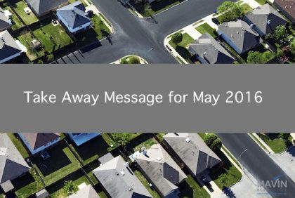 Take Away Message May 2016