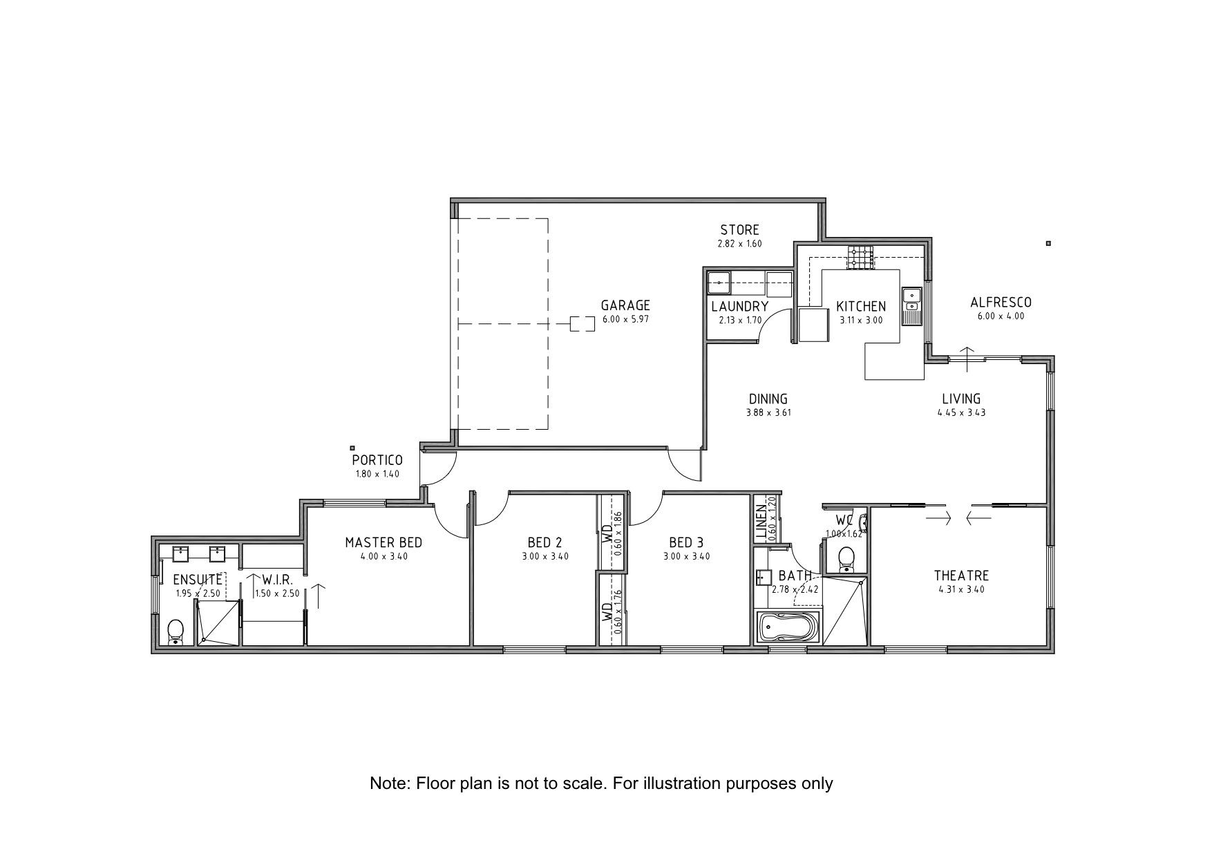 floor plan 158A Oats St