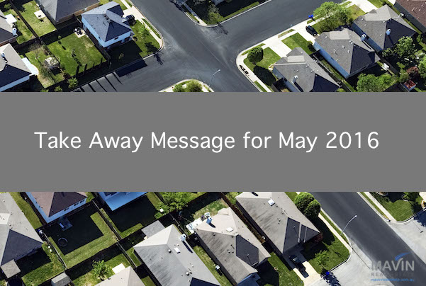 Take Away Message May 2016