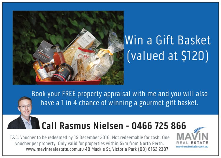 Gift basket promotion North Perth
